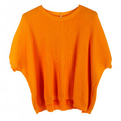 ORANGE RIBBED SWEATER