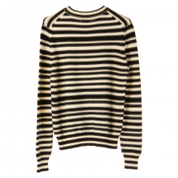 STRIPES PULLOVER WITH PATCHES