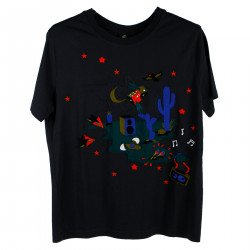 BLUE EMBRODERY T SHIRT