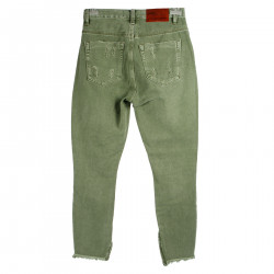 RIPPED GREEN TROUSERS