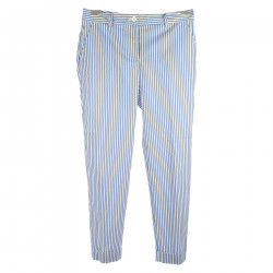 LIGHT BLUE AND WHITE TROUSERS