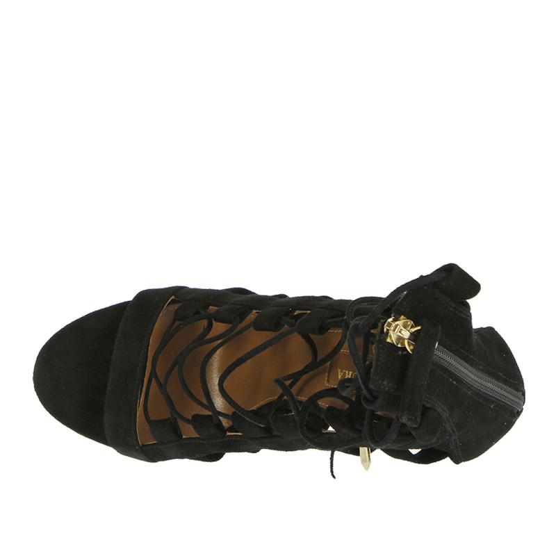 Black Sandal Woman Trovaprezzinuovo Suede Aquazzura 105 Amazon In OXiPZuk