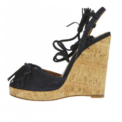 WILD ONE DARK BLUE WEDGE SHOE
