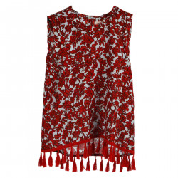 RED FLOWER FANTASY TOP