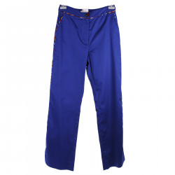 BLUE TROUSERS WITH FANTASY