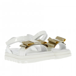 WHITE SANDALS AND GOLD