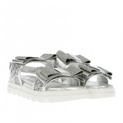 SILVER SANDALS WITH GLITTER