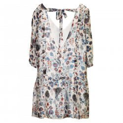 SHORT FLOWERED DRESS