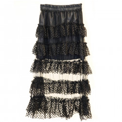 BLACK LACES SKIRT