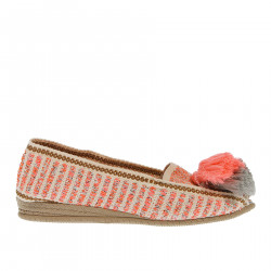 PINK ESPADRILLAS WITH GREY AND PINK PON PON