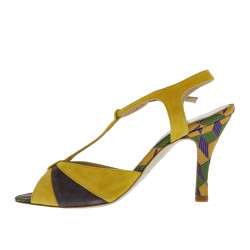 YELLOW AND VIOLET SANDAL