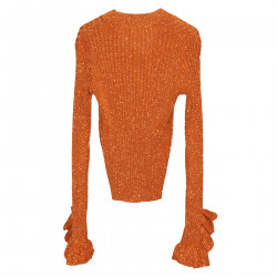 COPPER RIBBED CARDIGAN