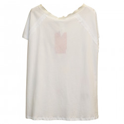 WHITE T SHIRT WITH PAILLETTES