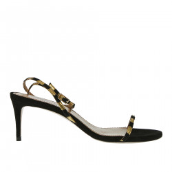 BLACK AND GOLD SANDAL