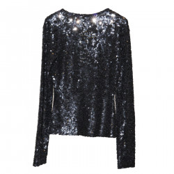 BLACK CARDIGAN WITH PAILLETTES