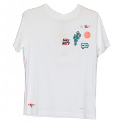 WHITE T SHIRT WITH PATCH