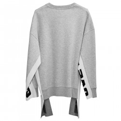 GREY SWEATSHIRT WITH WRITTEN SIDE DETAILS