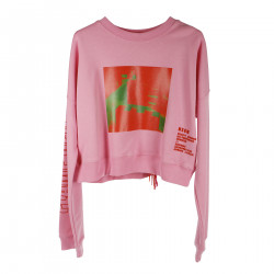 PINK SHORT SWEATSHIRT