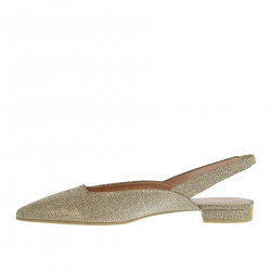 CLEMENTINE GREY GOLD FLAT SHOE