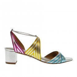 LEATHER MULTICOLOR SANDAL
