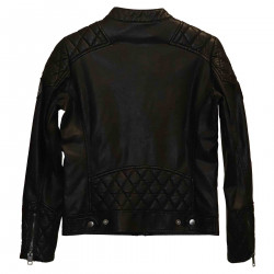BLACK JACKET IN ECO-LEATHER