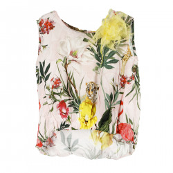 MULTICOLOR TANK TOP WITH FLOWER