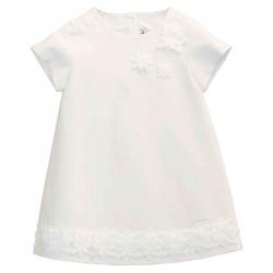 WHITE SHORT SLEEVEL DRESS
