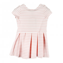 WHITE AND PINK STRIPED DRESS