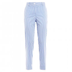 WHITE AND BLUE TROUSERS