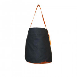 BROWN AND BLACK SHOULDERBAG