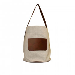 BEIGE AND BROWN SHOULDERBAG