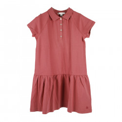 PINK SHORT SLEEVE DRESS