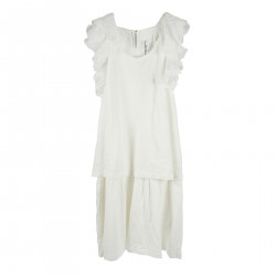 SHEET CREAM DRESS