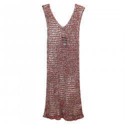 PERFORATED SLEEVELESS DRESS