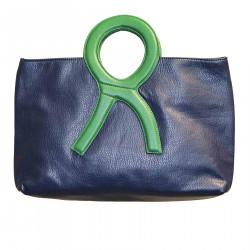 BLUE AND GREEN ERRE HANDBAG