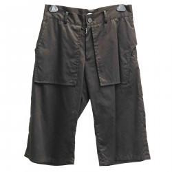 BLACK COTTON SHORT PANTS