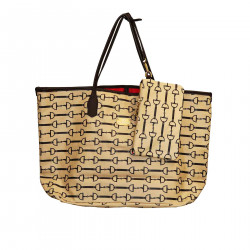 BORSA SHOPPING BEIGE MODELLO LAURA