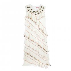 CREAM DRESS WITH SHELLS