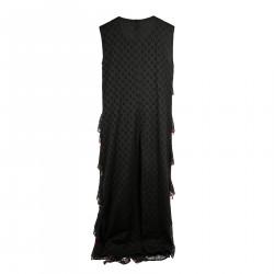 BLACK DRESS WITH SHELLS