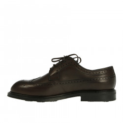 BROWN LEATHER LACE UP