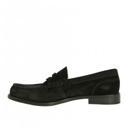 BLACK SUEDE LAOFER