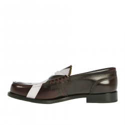 BROWN AND WHITE LOAFER