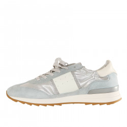 SNEAKER AZZURRA AND SILVER TOUJOURS