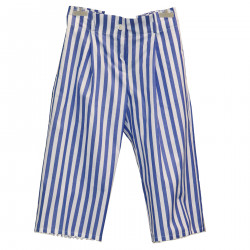 WHITE AND LIGHT BLUE TROUSERS