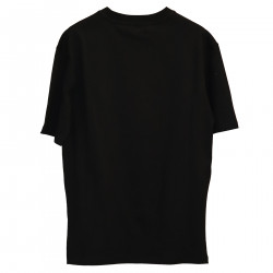 BLACK T SHIRT WITH FRONTAL PRINT