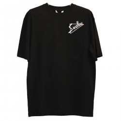BLACK T SHIRT WITH EMBROIDERY