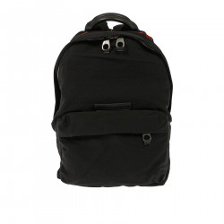 BLACK BACKPACK WITH RED ERMBROIDERY