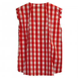 CHECKED SLEEVELESS SHIRT