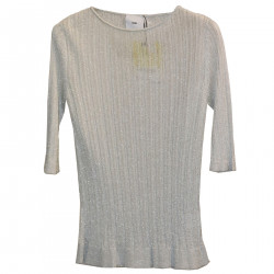 SILVER RIBBED SWEATER