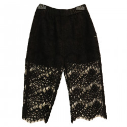 BLACK TROUSERS IN LACE